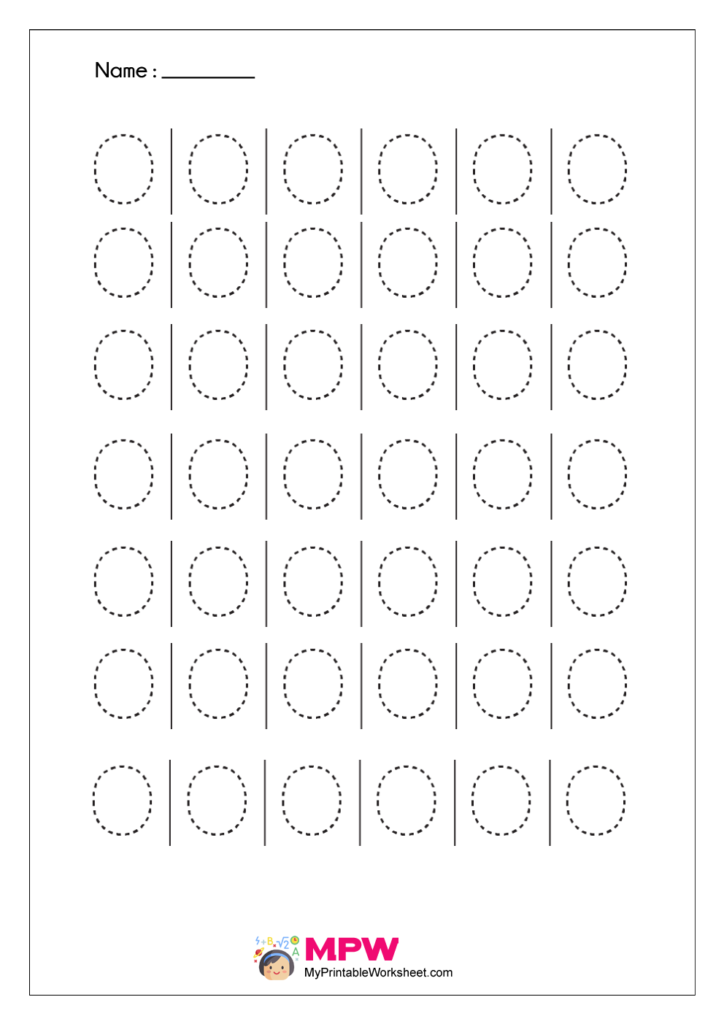 Printable Capital Letter Tracing Worksheet O