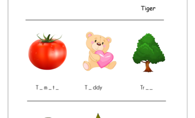 Missing Vowels Printable Worksheet