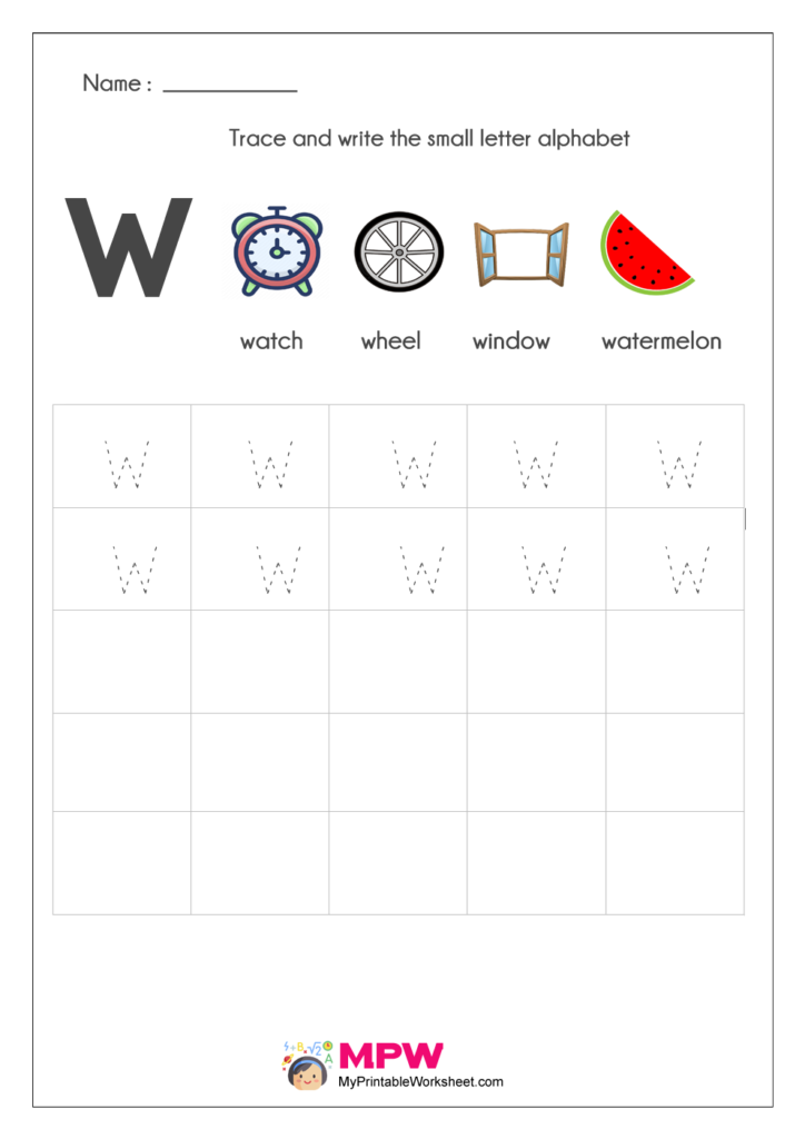 Small Letter Alphabets w Writing Worksheets
