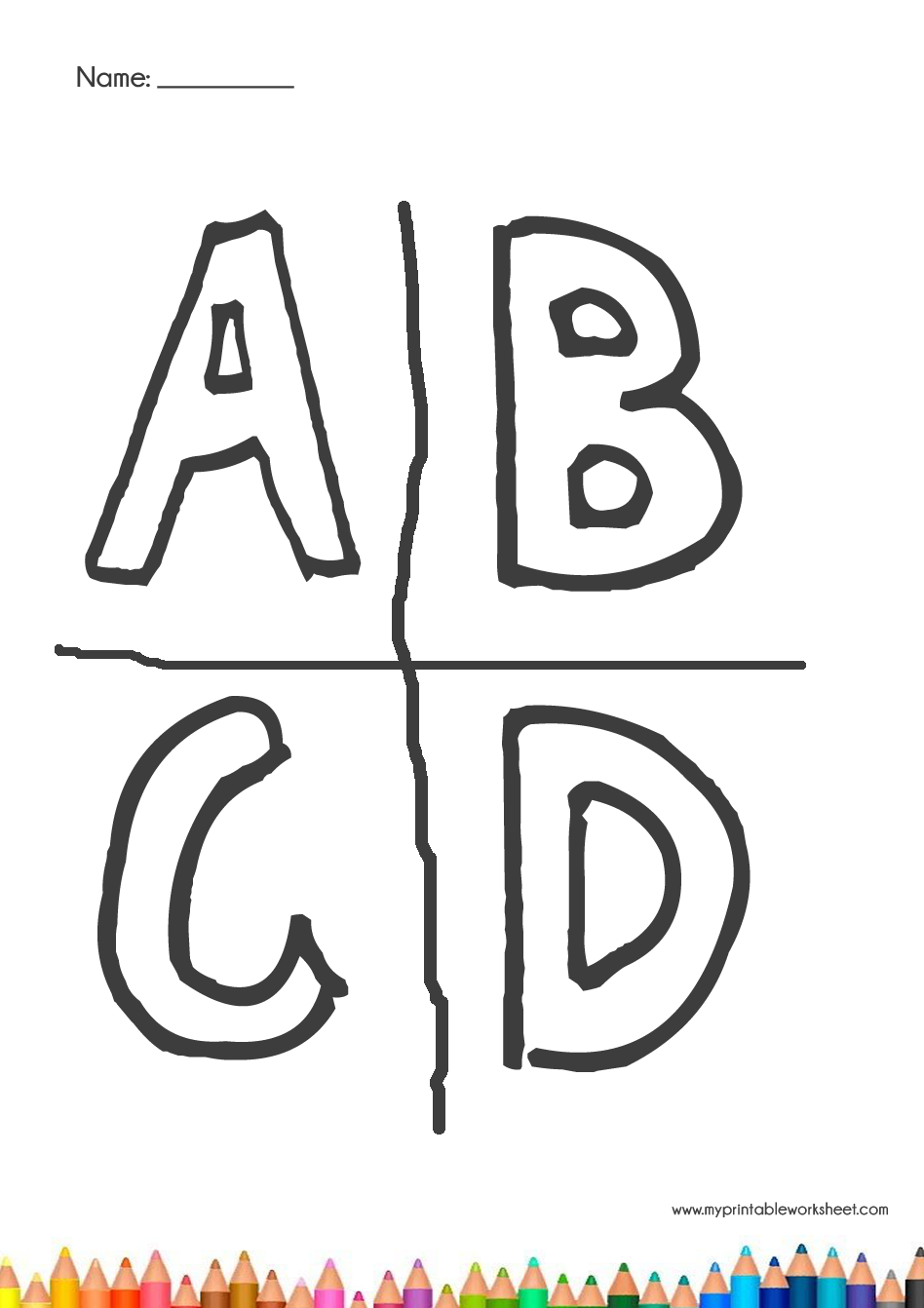 30+ Alphabet Coloring Pages for Kindergarten - My ...