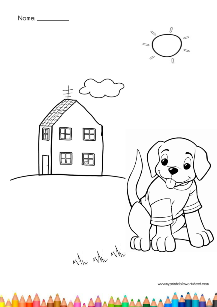 coloring pages for dog