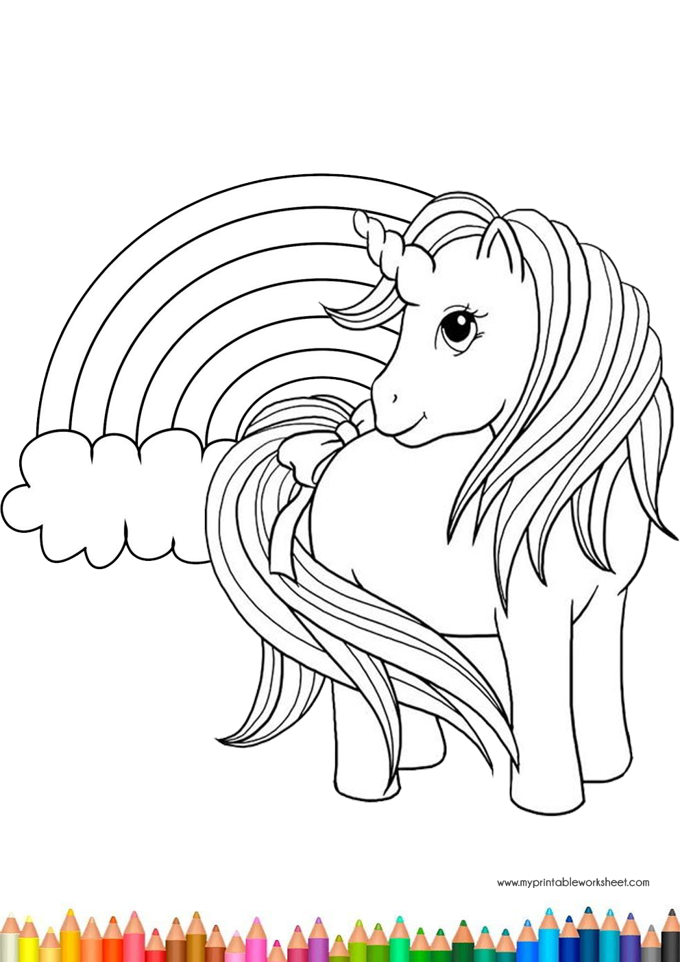 Easy Cute Unicorn Coloring Pages for Kids and Girls ...
