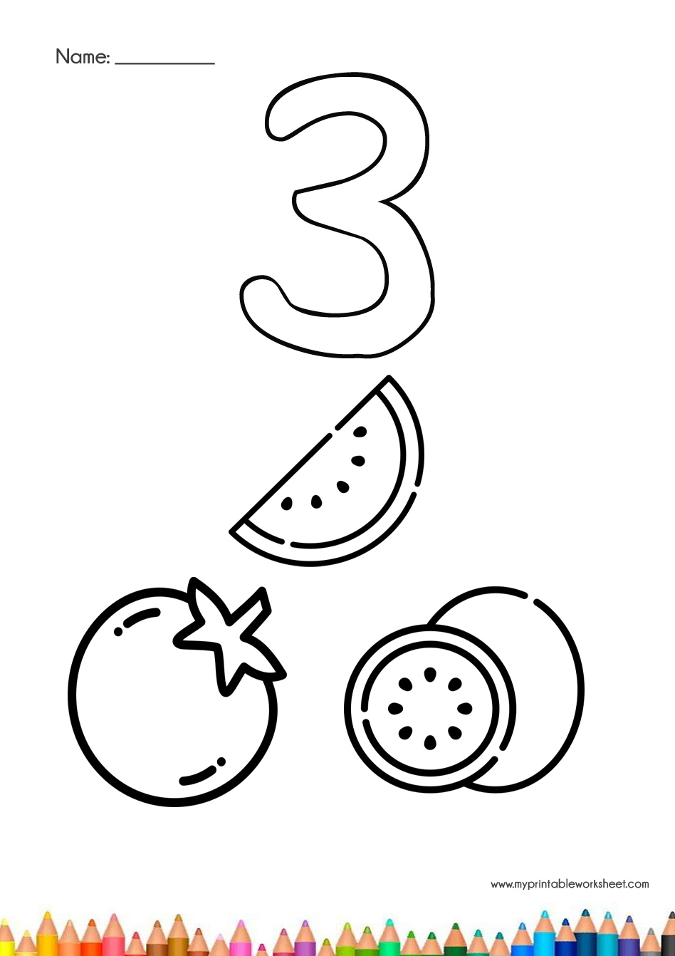 Free Printable Number Coloring Pages For Kids | Numbers preschool ... | 1342x948
