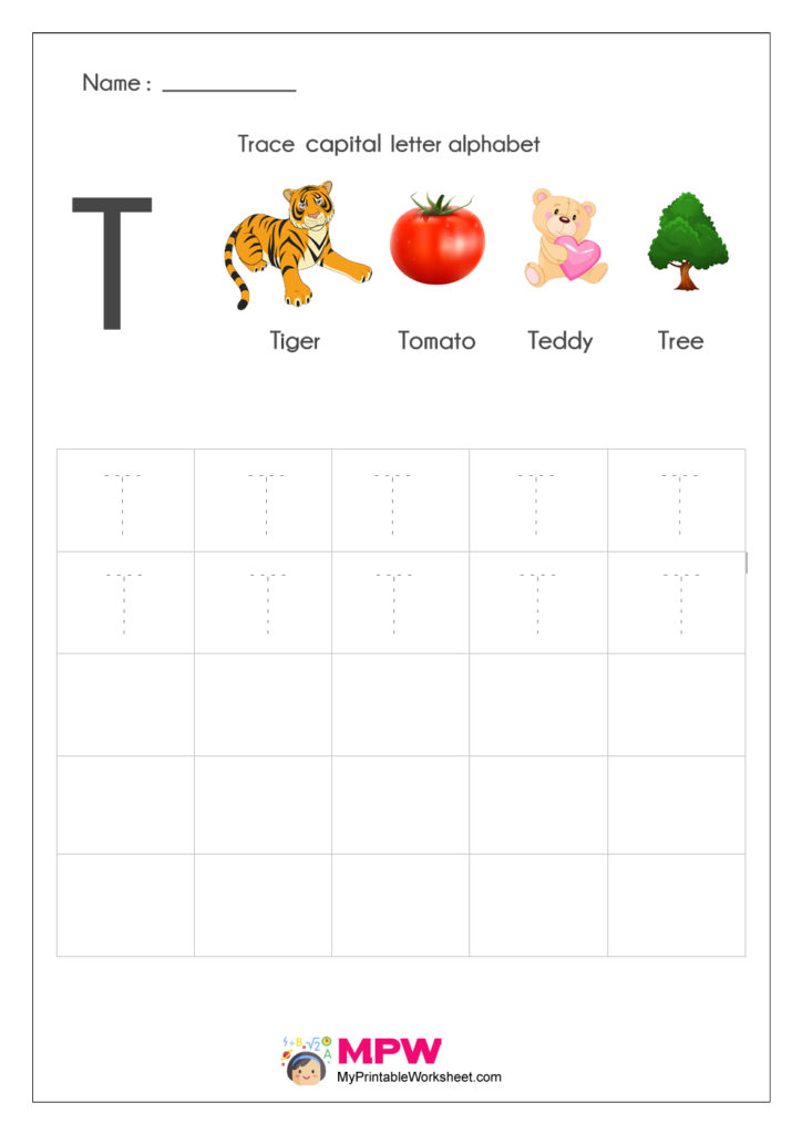 Alphabet T Writing Worksheets